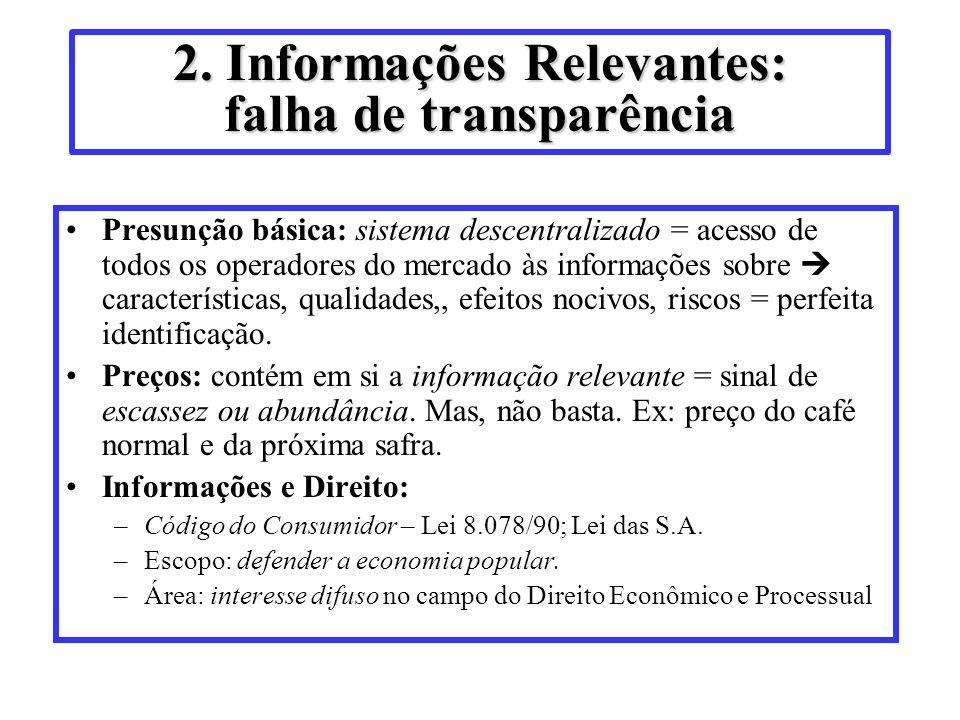 2. Informações Relevantes: falha de transparência