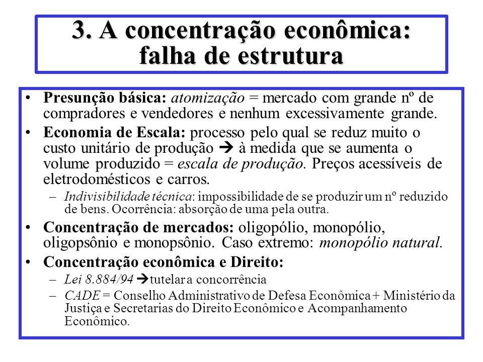 3. A concentração econômica: falha de estrutura