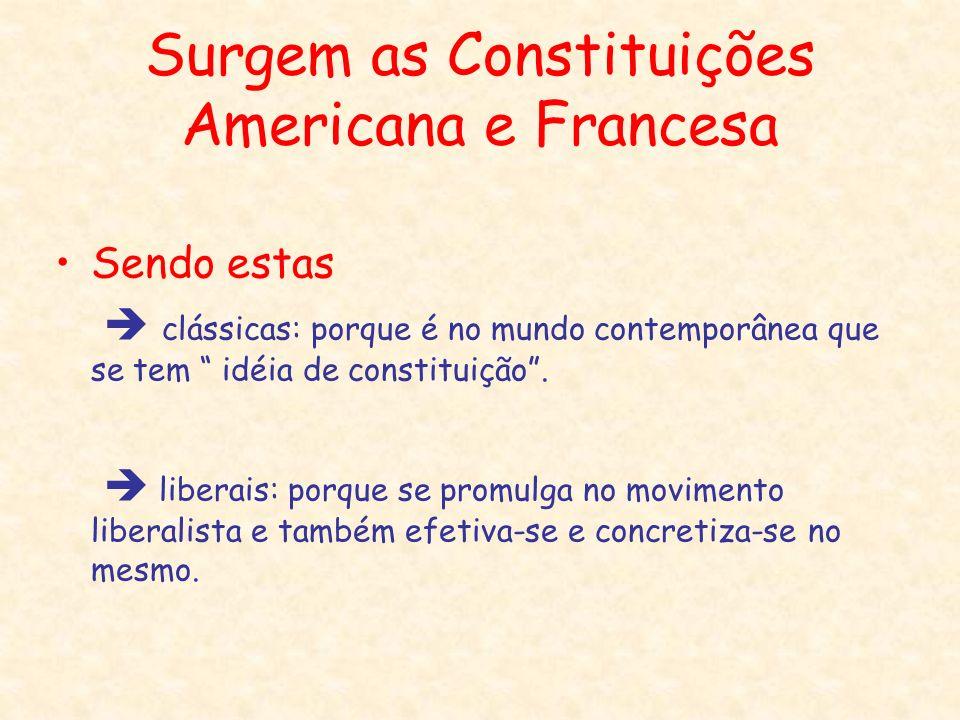 Surgem as Constituições Americana e Francesa