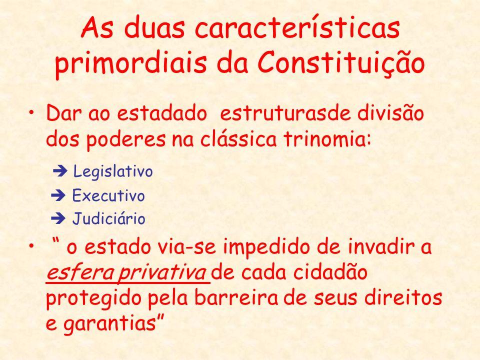 As duas características primordiais da Constituição