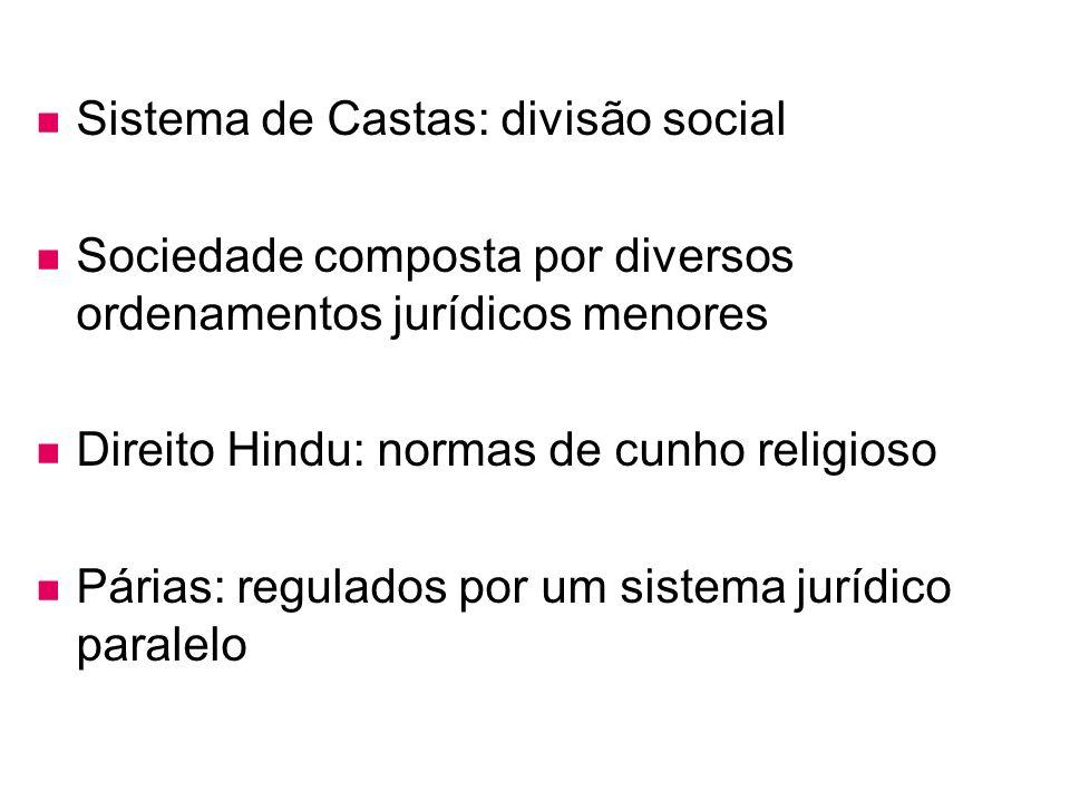 Sistema de Castas: divisão social