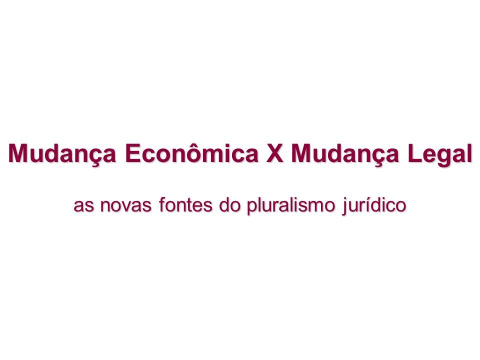 Mudança Econômica X Mudança Legal