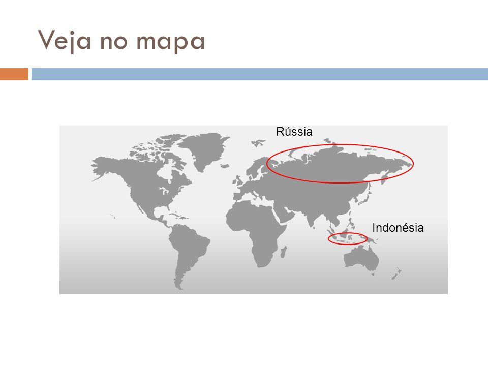 Veja no mapa Rússia Indonésia