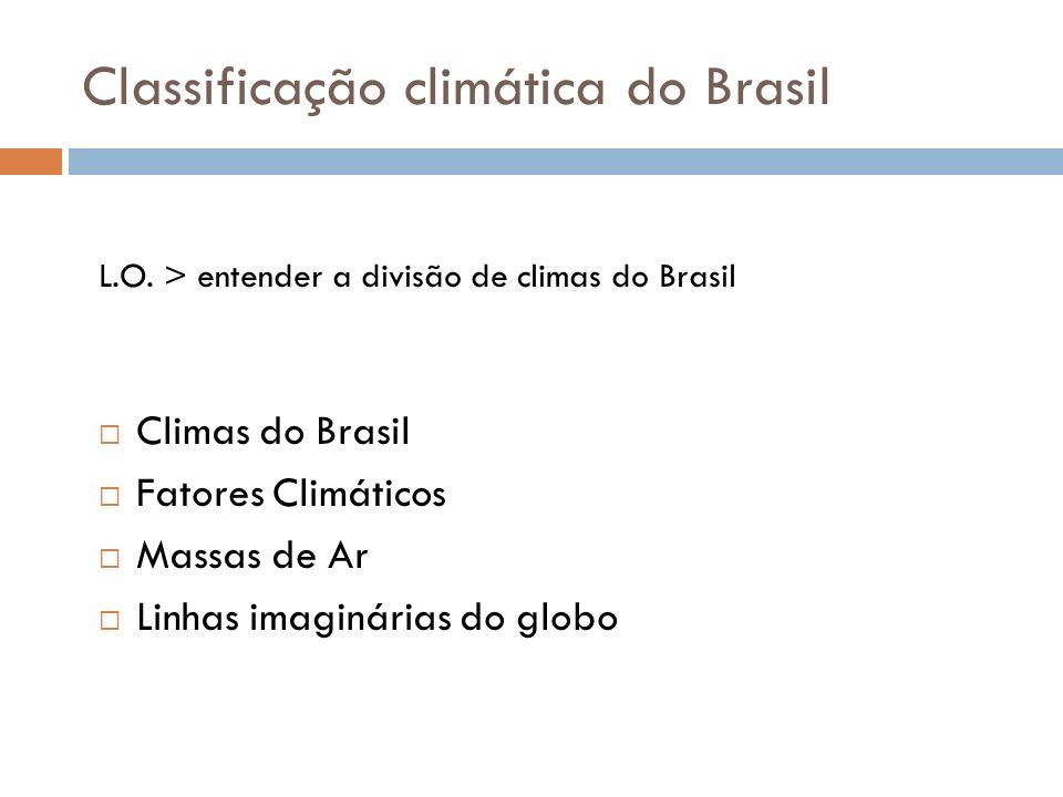 Classificação climática do Brasil