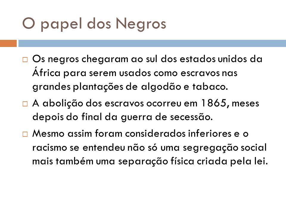 O papel dos Negros