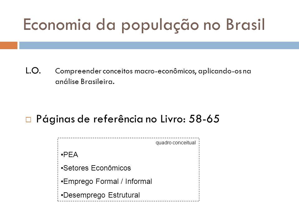 Economia da população no Brasil