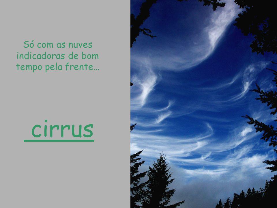 Só com as nuves indicadoras de bom tempo pela frente…