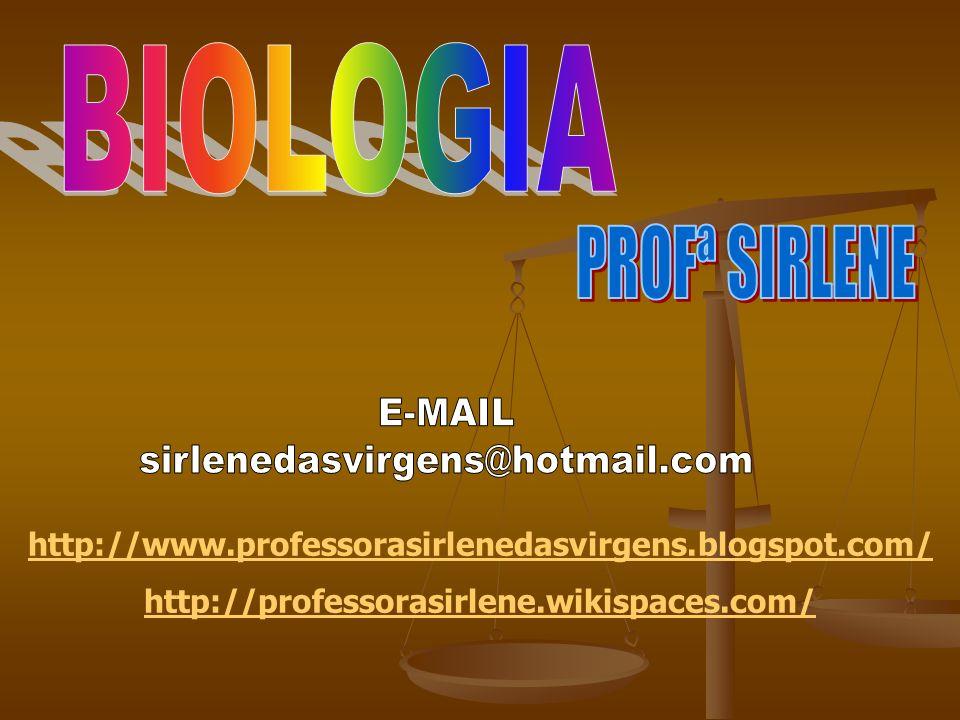 BIOLOGIA PROFª SIRLENE E-MAIL sirlenedasvirgens@hotmail.com