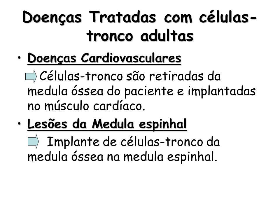 Doenças Tratadas com células-tronco adultas