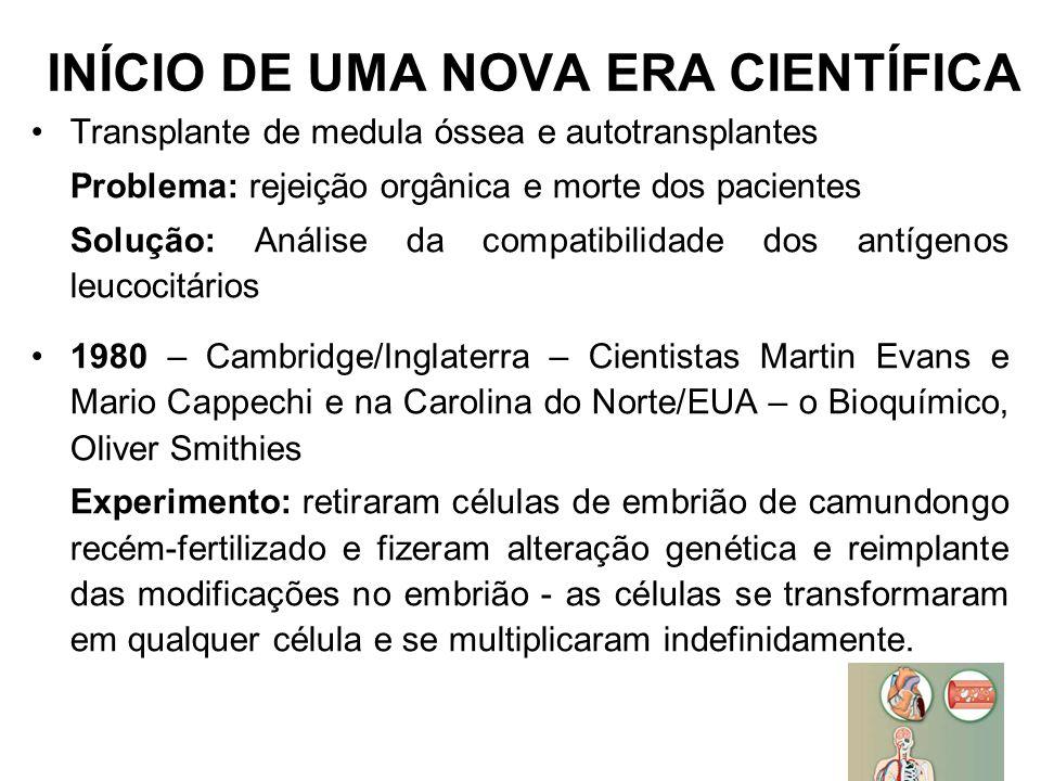 INÍCIO DE UMA NOVA ERA CIENTÍFICA