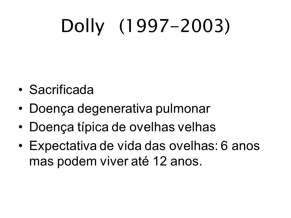 Dolly (1997-2003) Sacrificada Doença degenerativa pulmonar