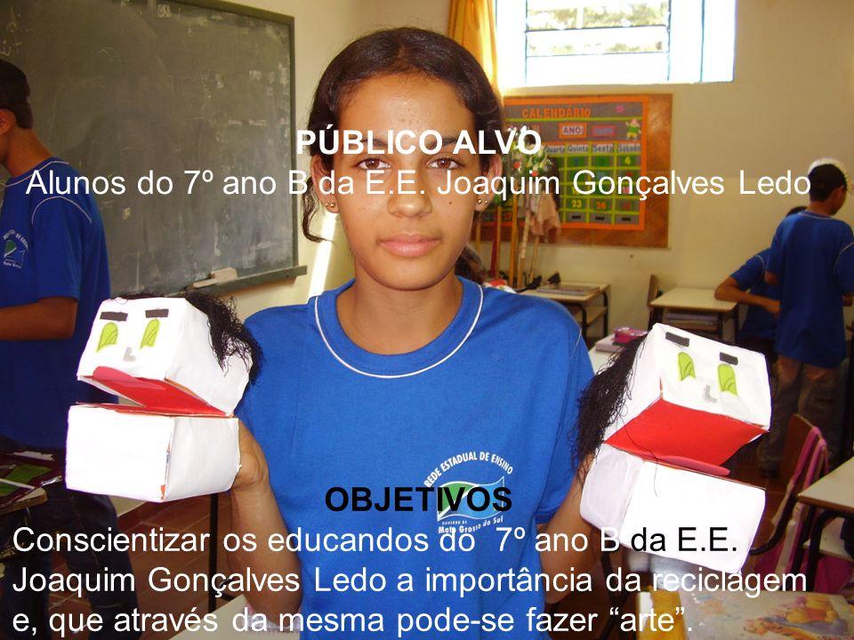 Alunos do 7º ano B da E.E. Joaquim Gonçalves Ledo