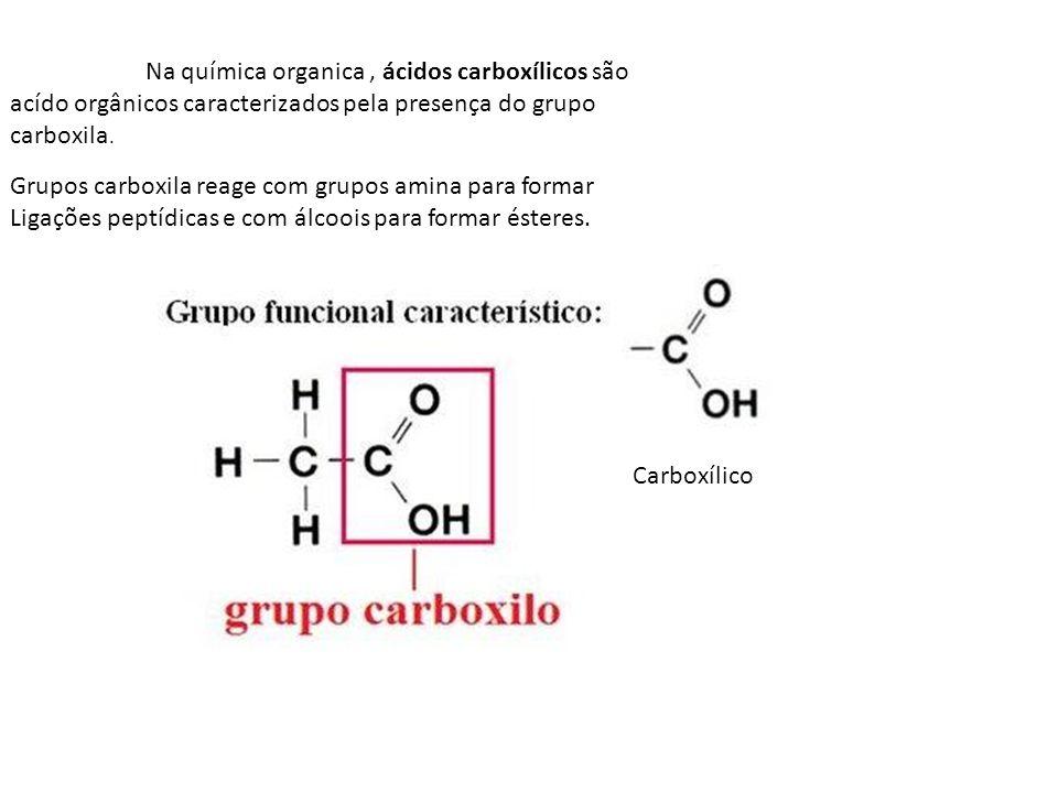 Na química organica , ácidos carboxílicos são acído orgânicos caracterizados pela presença do grupo carboxila.