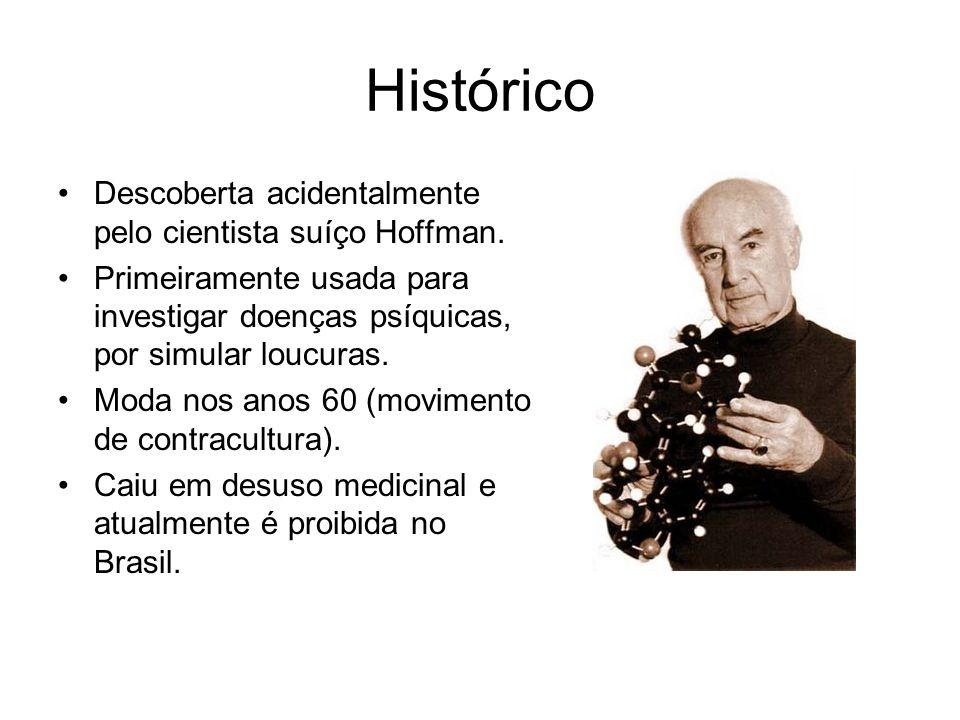 Histórico Descoberta acidentalmente pelo cientista suíço Hoffman.