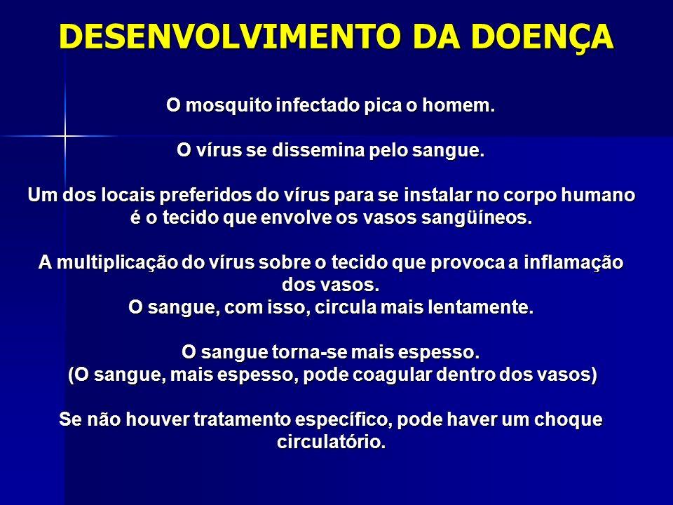 DESENVOLVIMENTO DA DOENÇA