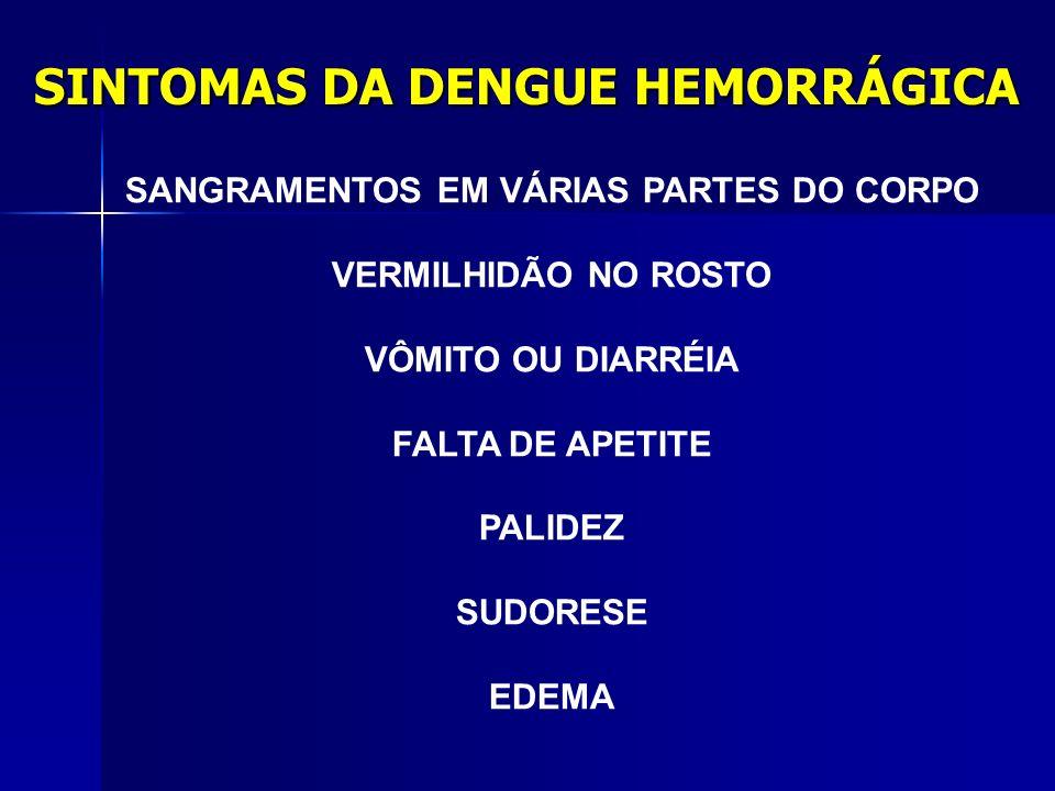SINTOMAS DA DENGUE HEMORRÁGICA