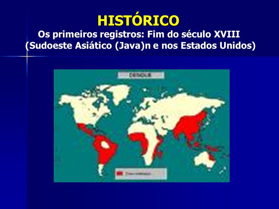 HISTÓRICO Os primeiros registros: Fim do século XVIII