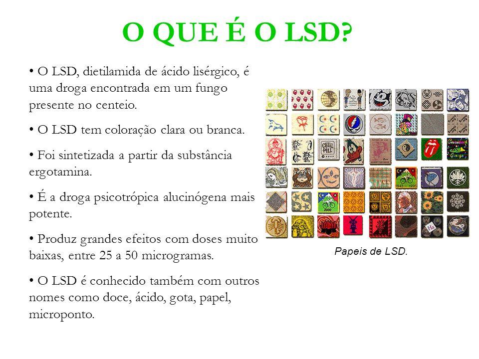 O QUE É O LSD O LSD, dietilamida de ácido lisérgico, é uma droga encontrada em um fungo presente no centeio.