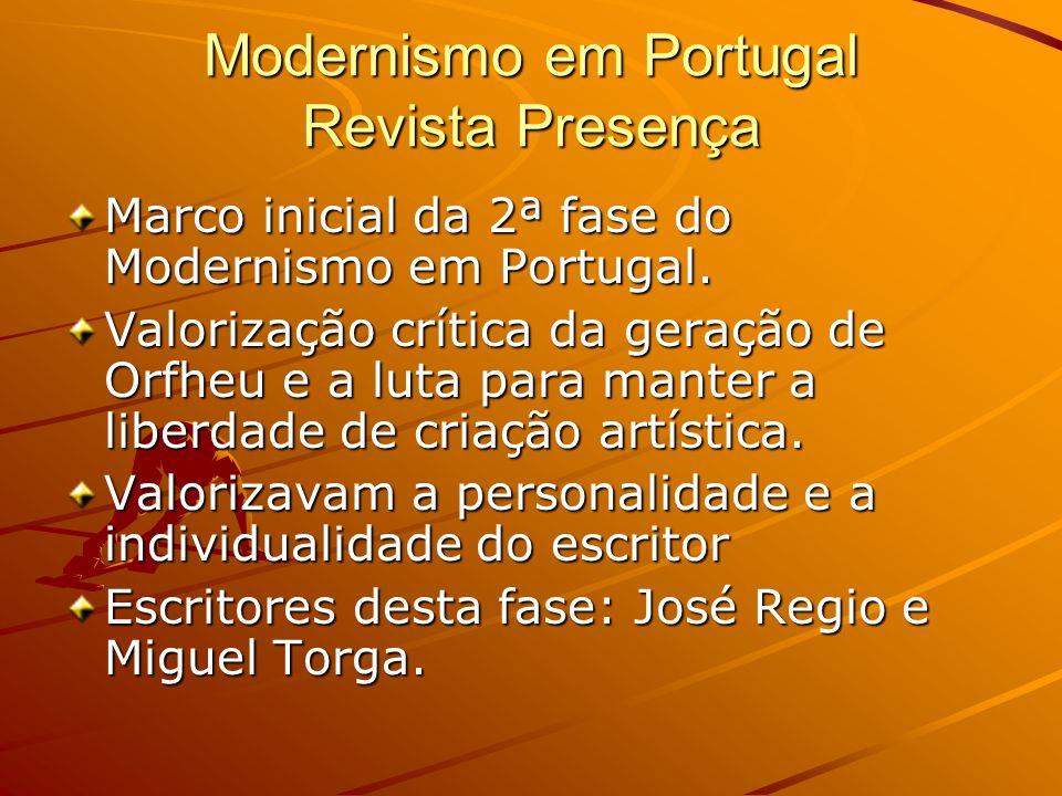 Modernismo em Portugal Revista Presença