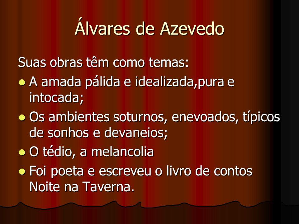 Álvares de Azevedo Suas obras têm como temas:
