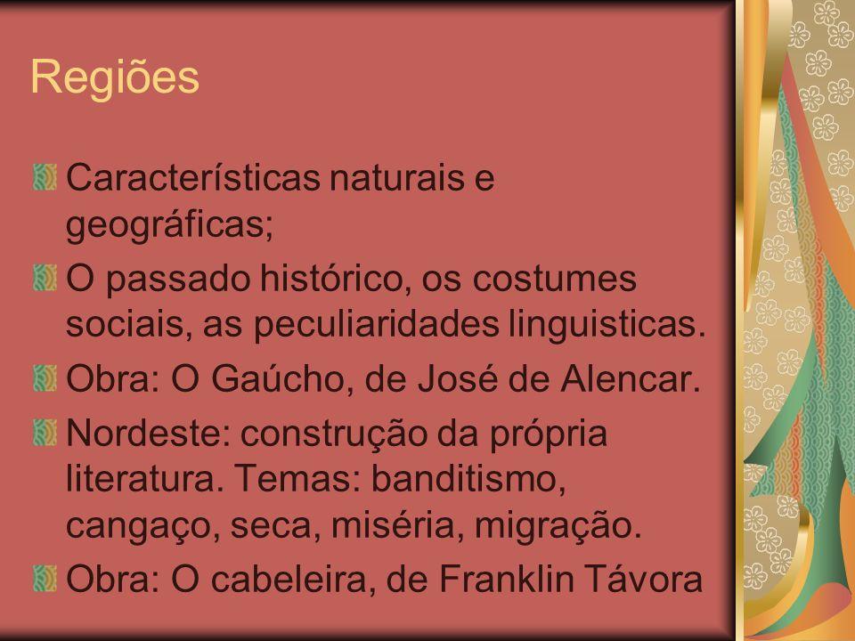 Regiões Características naturais e geográficas;
