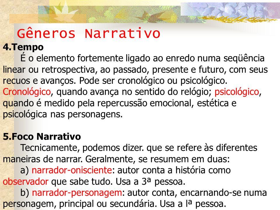 Gêneros Narrativo 4.Tempo