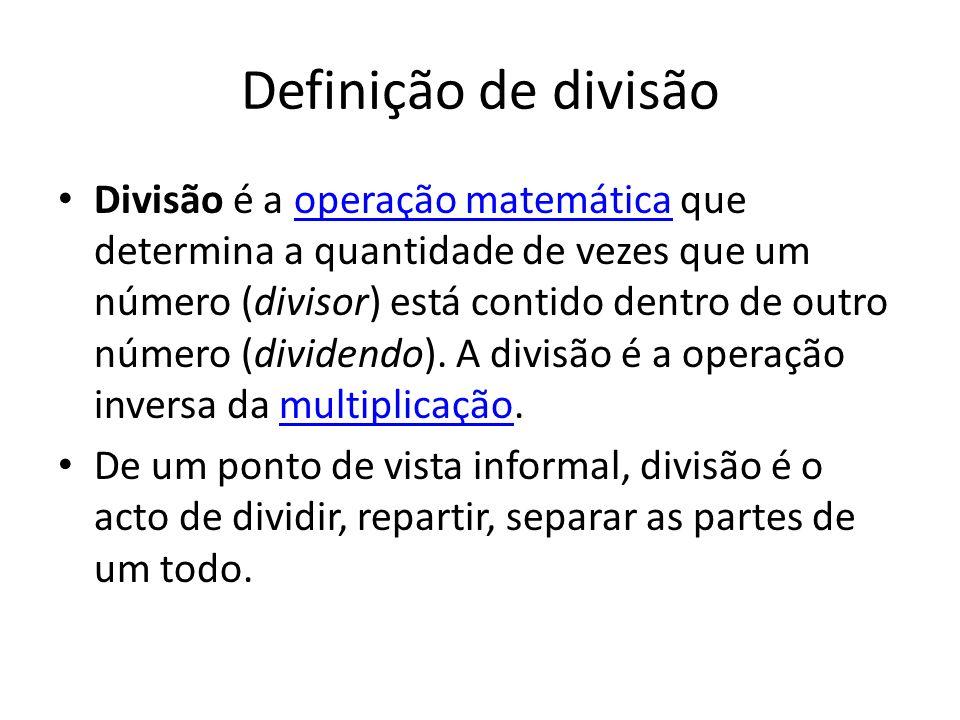 Definição de divisão