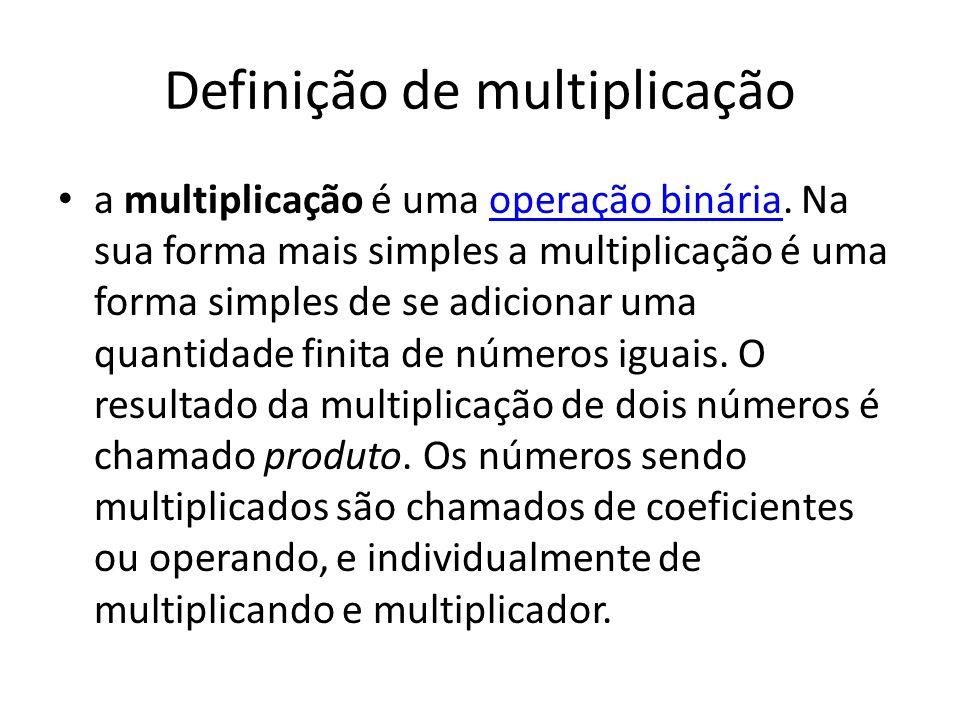 Definição de multiplicação