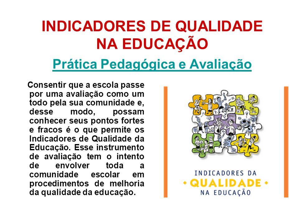 INDICADORES DE QUALIDADE NA EDUCAÇÃO Prática Pedagógica e Avaliação