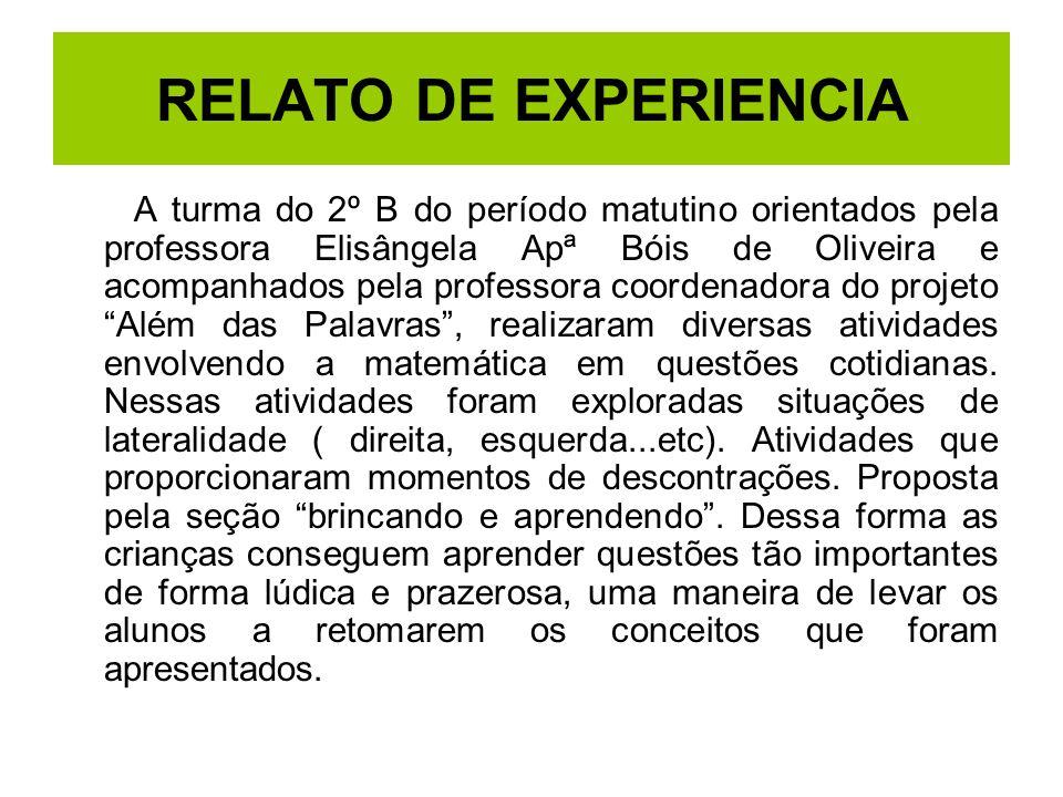 RELATO DE EXPERIENCIA