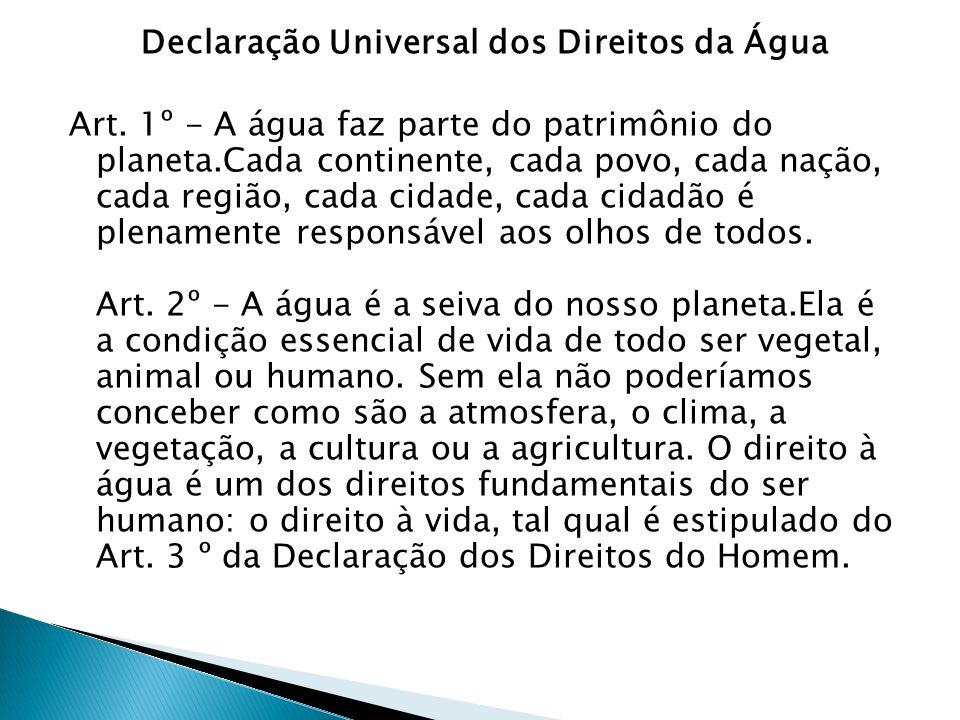 Declaração Universal dos Direitos da Água Art