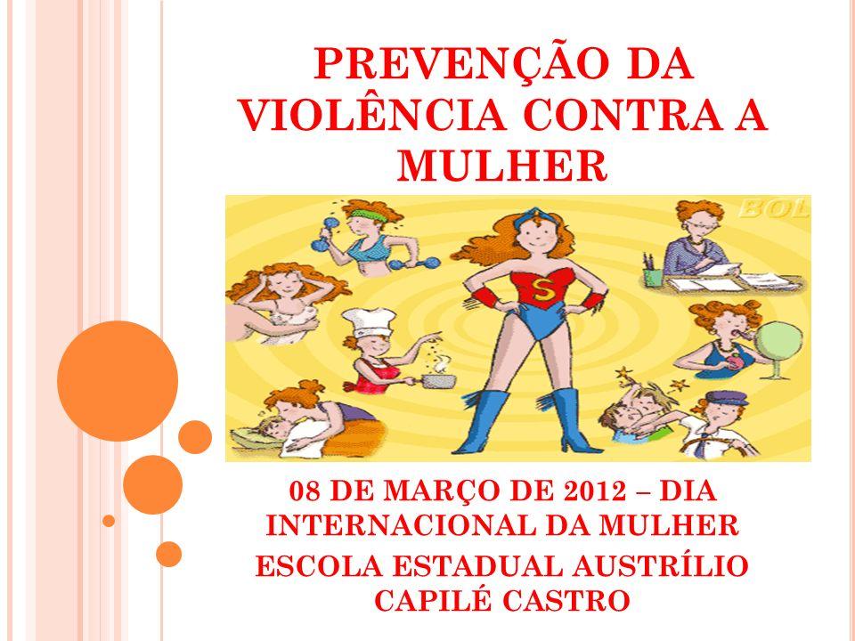 PREVENÇÃO DA VIOLÊNCIA CONTRA A MULHER