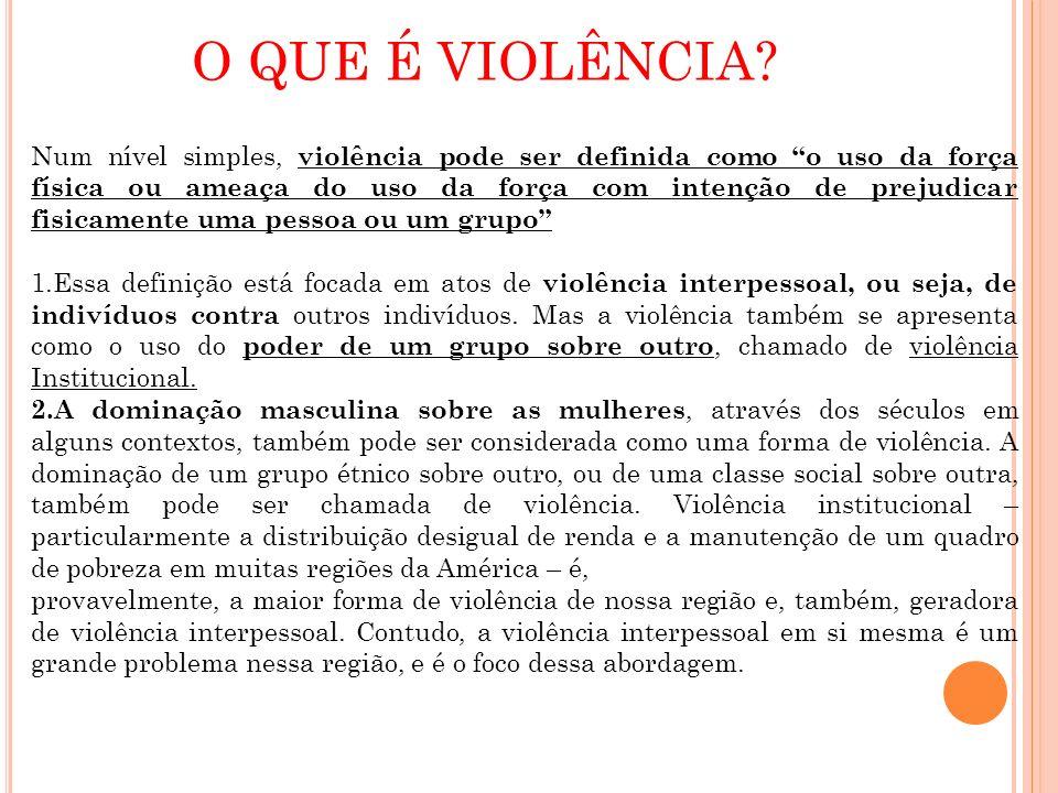 O QUE É VIOLÊNCIA