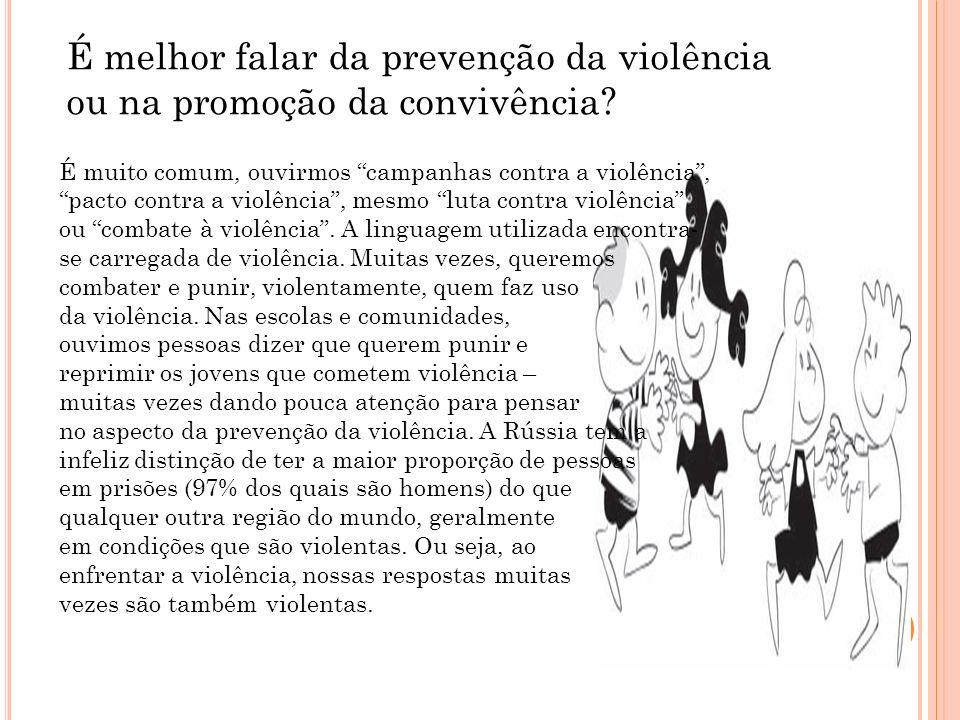 É melhor falar da prevenção da violência