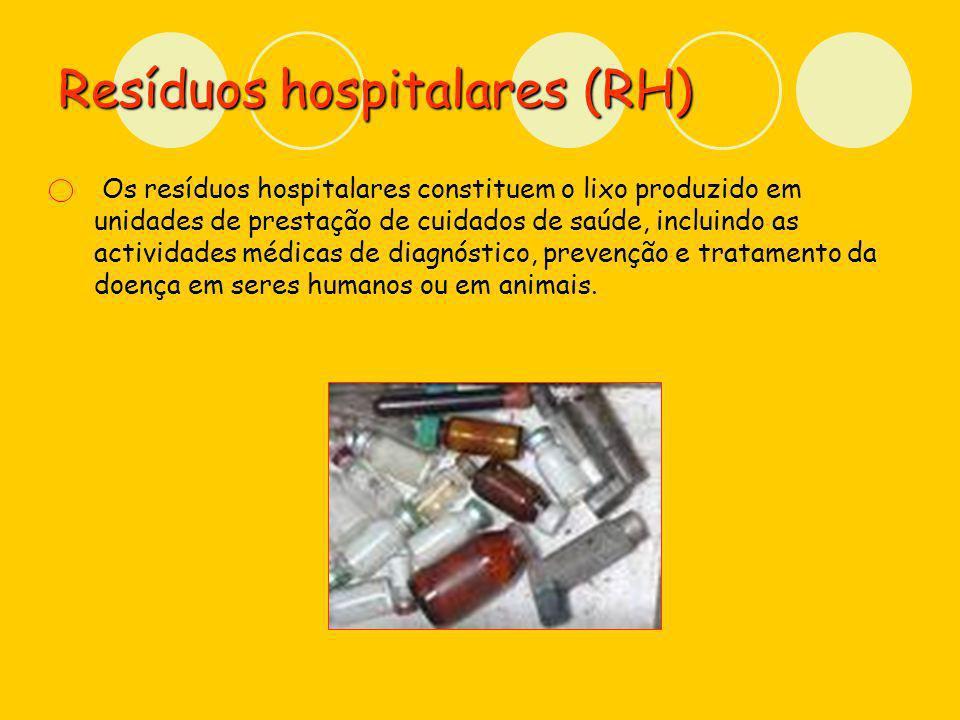 Resíduos hospitalares (RH)