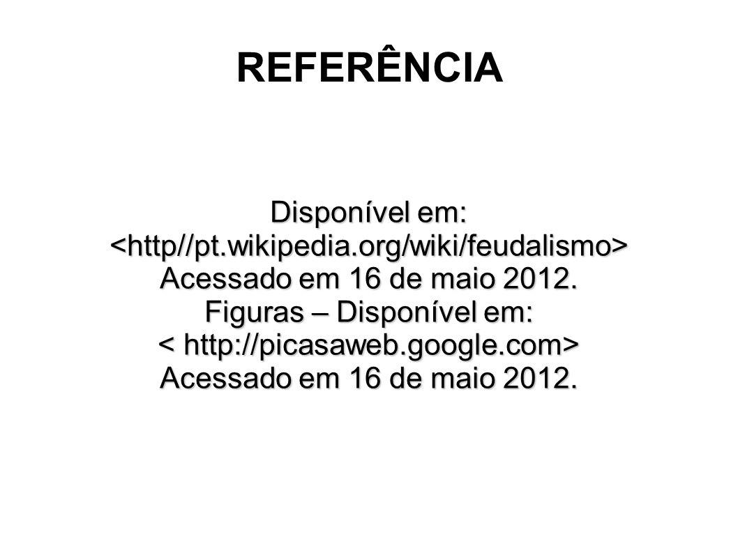 REFERÊNCIA Disponível em: