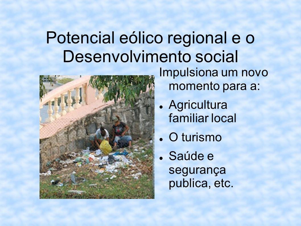 Potencial eólico regional e o Desenvolvimento social