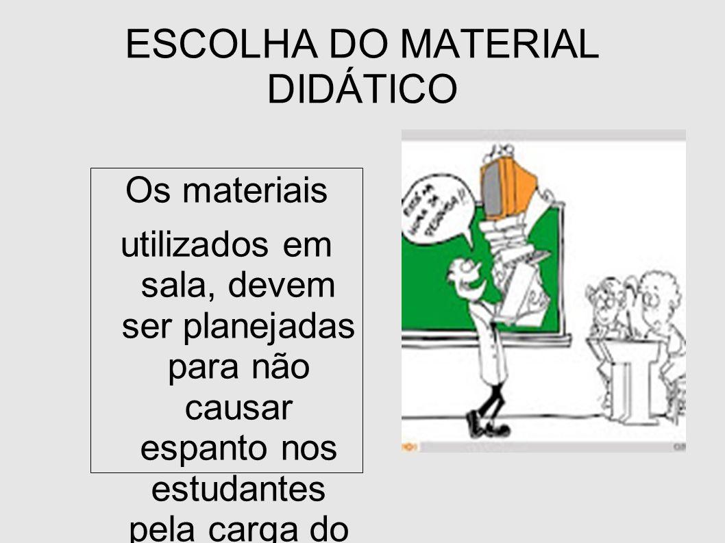 ESCOLHA DO MATERIAL DIDÁTICO