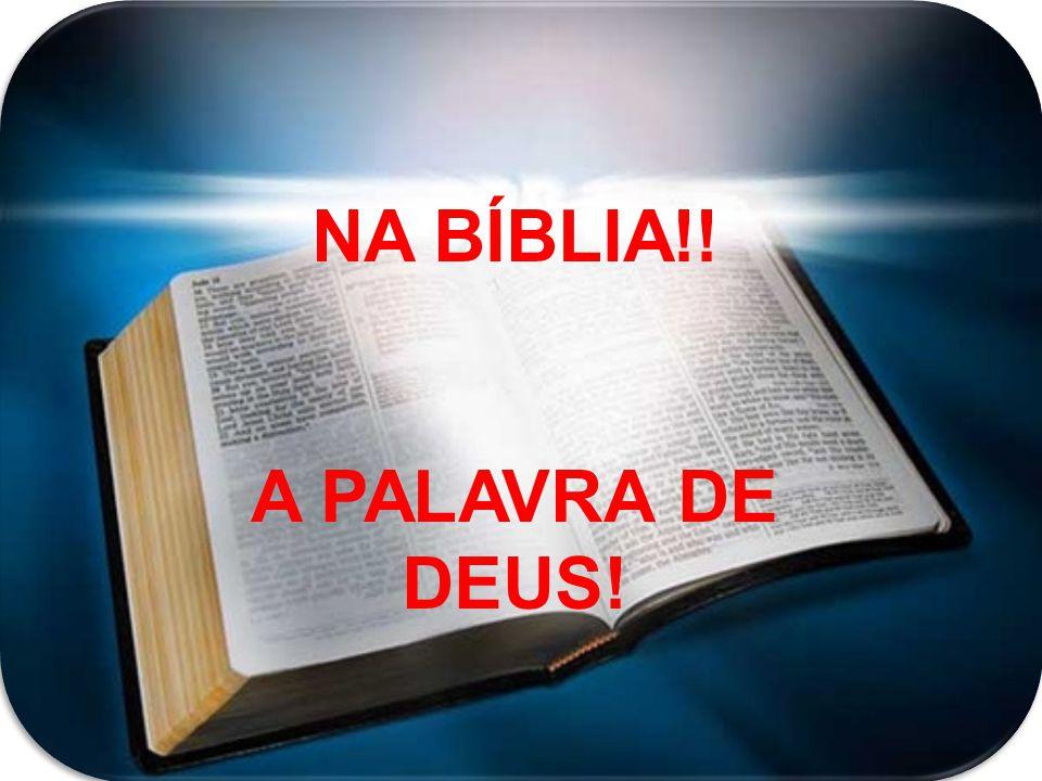 NA BÍBLIA!! A PALAVRA DE DEUS!