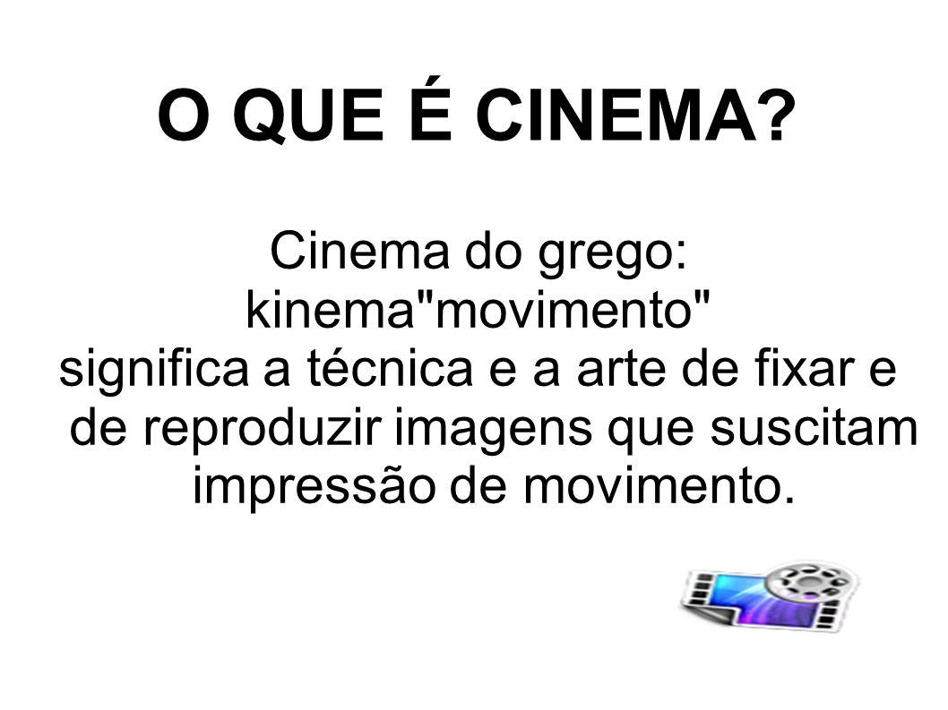 O QUE É CINEMA Cinema do grego: kinema movimento