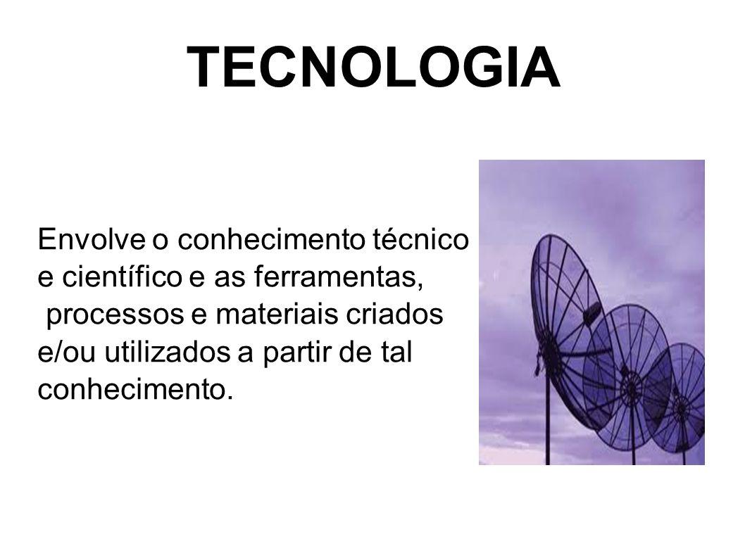 TECNOLOGIA Envolve o conhecimento técnico