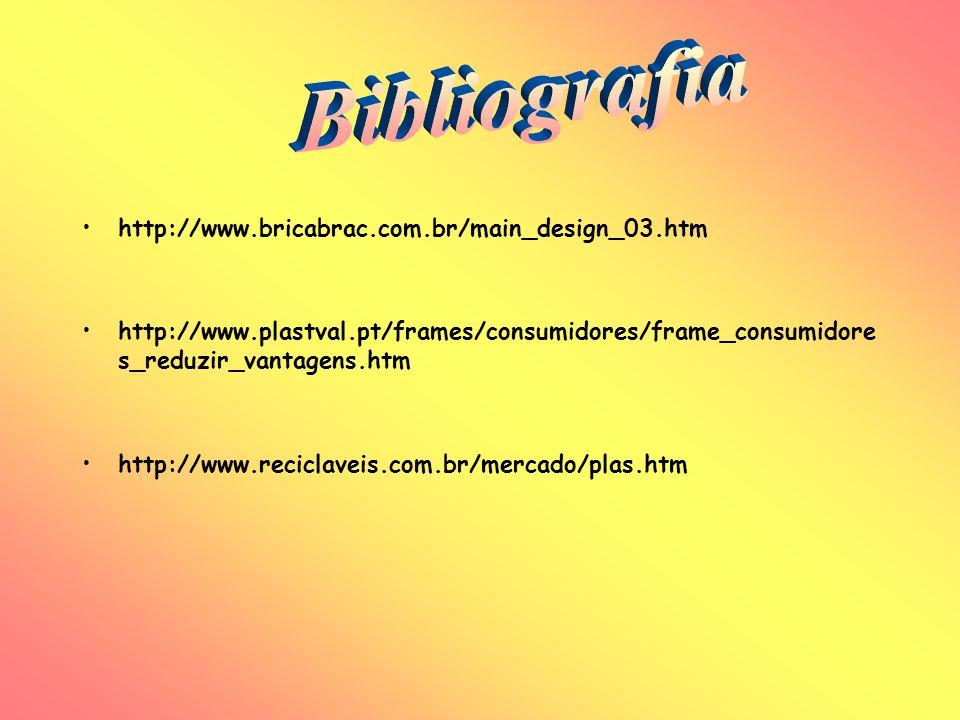 Bibliografia http://www.bricabrac.com.br/main_design_03.htm