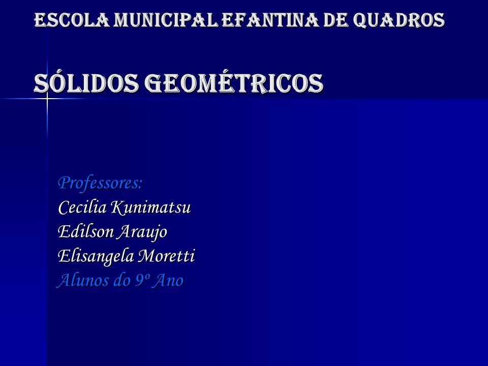 Escola Municipal Efantina de Quadros Sólidos Geométricos
