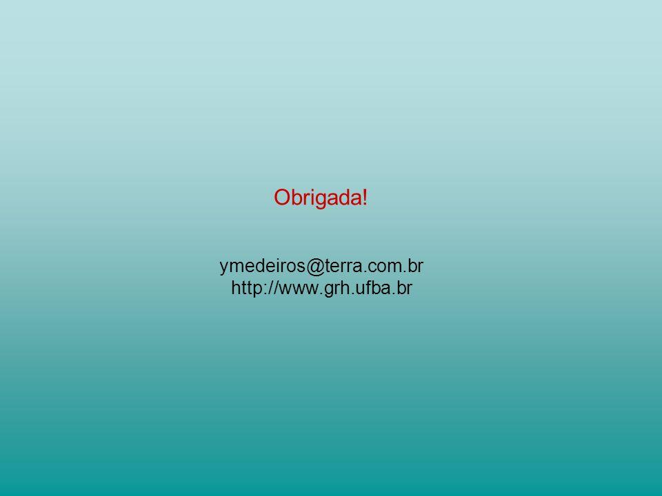 Obrigada! ymedeiros@terra.com.br http://www.grh.ufba.br