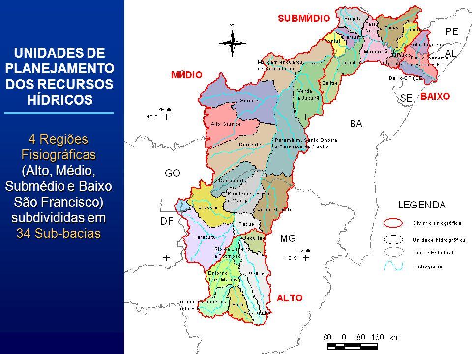 UNIDADES DE PLANEJAMENTO DOS RECURSOS HÍDRICOS