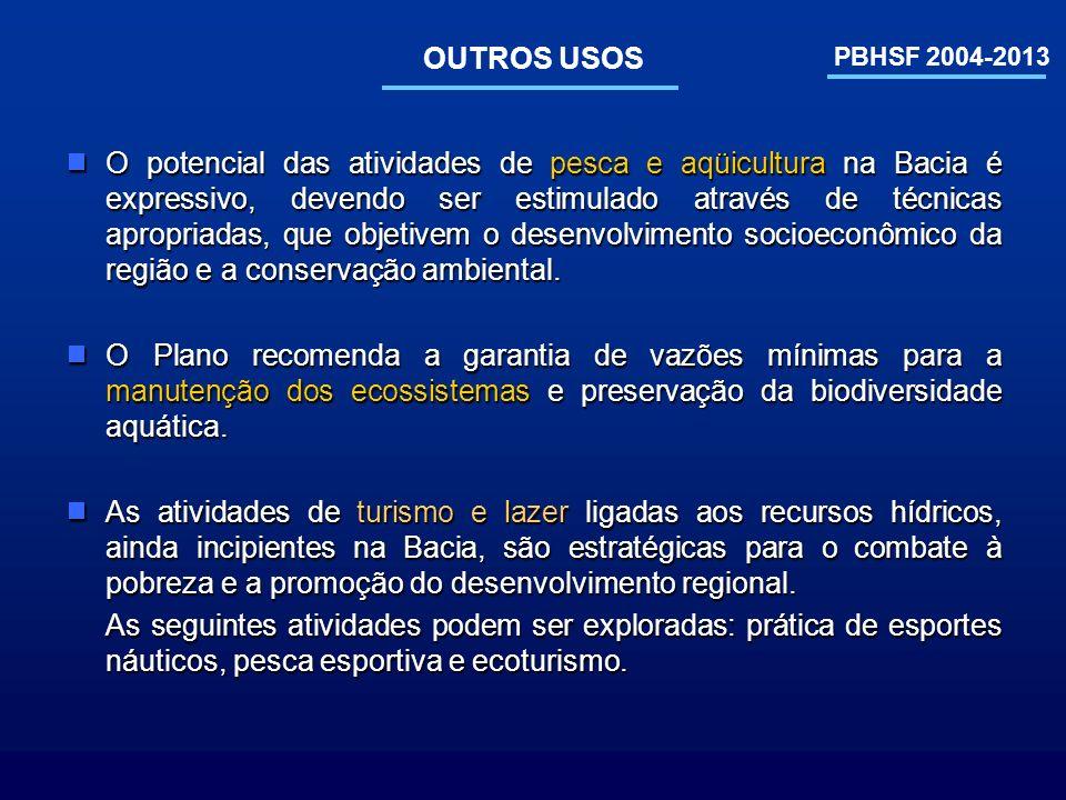 OUTROS USOS PBHSF 2004-2013.