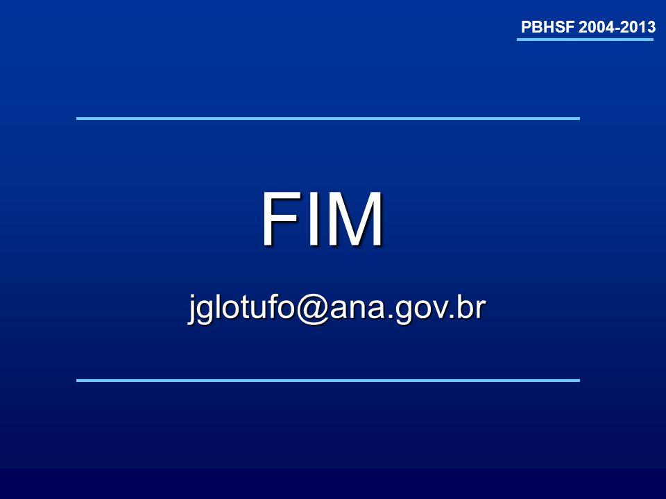 PBHSF 2004-2013 FIM jglotufo@ana.gov.br