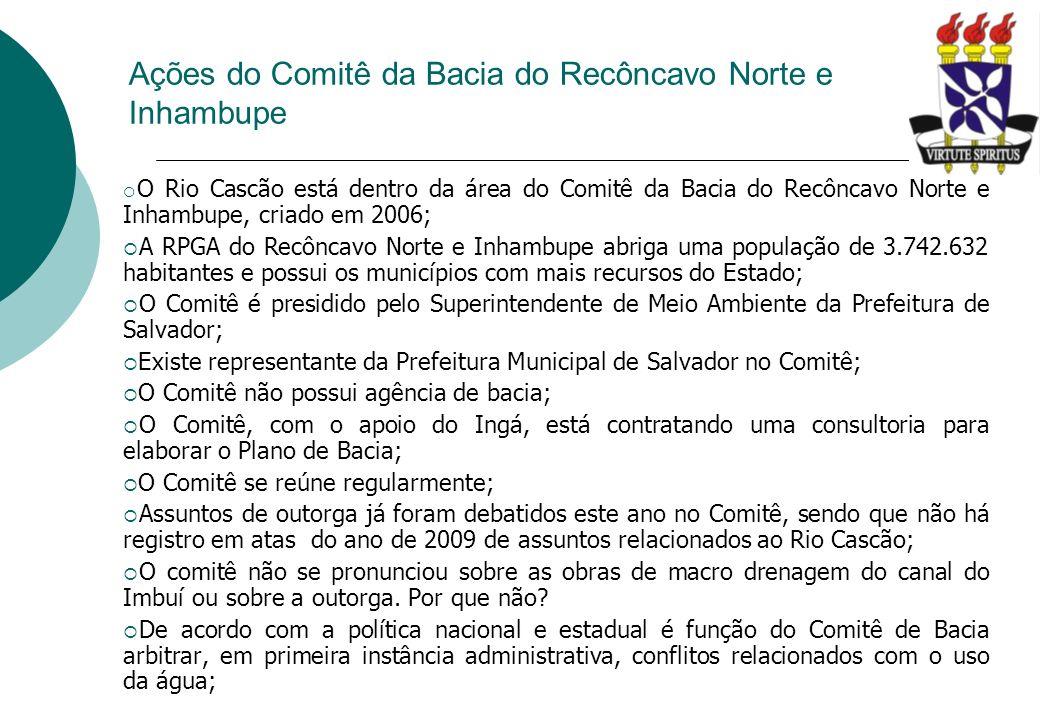 Ações do Comitê da Bacia do Recôncavo Norte e Inhambupe