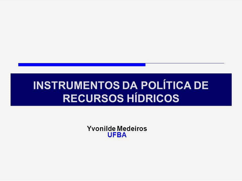 INSTRUMENTOS DA POLÍTICA DE RECURSOS HÍDRICOS