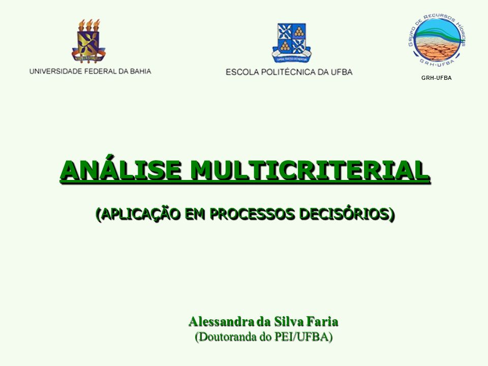 ANÁLISE MULTICRITERIAL